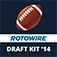 RotoWire Fantasy Football Draft Kit 2014 logo